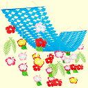 夏装飾 ハイビスカス プリーツハンガー L150cm[花・夏・ディスプレイ・装飾・飾り付け]