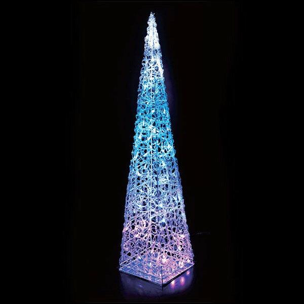 LEDクリスタルモチーフツリー 90cm ブルー / イルミネーション 装飾