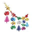 クリスマス装飾 ベル&スターネットガーランド L180cm