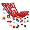 クリスマス装飾 サンタフェイスプリーツハンガー L150cm