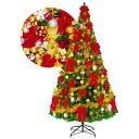 クリスマスツリーセット 360cm オーナメント付・200球ライト付 / 装飾 ディスプレイ 飾り