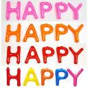 英語(英字)POPバルーン「HAPPY」 【アルファベット バルーン 風船】 ※空気が入ってない状態でお届けします /動画有