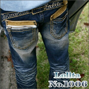 ポケット ポイント ストレート フィット ロリータジーンズ LolitaJeans ロリータ ジーンズ