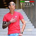 VIOLA rumore ヴィオラ Tシャツ メンズ 半袖 Vネック tシャツ 7 ラインストーン トップス プリント プレート タイト XL LL ブランド ブラック ホワイト お兄系 サーフ系 ストリート系 オラオラ系 BITTER ビター系 ジョーカー joker