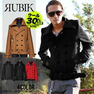 Wool Melton short-length riders P coat peacoat men's jacket outerwear JOKER Joker 20% off new mens winter