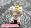 クマ 熊 聞かざる 王冠 付き シリコンモールド レジン アロマストーン 手作り 石鹸 キャンドル 樹脂 粘土 オルゴナイト 型 抜き型