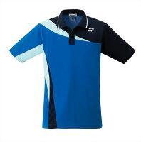 【楽天スーパーSALE×ポイントアップ限定!ポイント5倍!9/4〜9/11迄】ヨネックス YONEX 10205 テニス・バドミントン ウェア(メンズ/ユニ) ユニポロシャツ(スタンダードサイズ) ブラストブルー 17SSの画像
