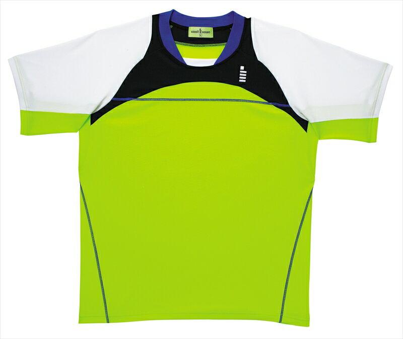 【ゴーセンクリアランス】t1414 ゴーセン GOSEN ゴーセン バドミントン ソフトテニス ゲームシャツ ウェア ユニホーム ライムグリーン SS 42