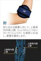 mps-70el ヨネックス YONEX オールスポーツ サポーター肘 ブラックXブルーの画像