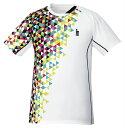 《楽天スーパーSALE!9/2〜9/7まで》ゴーセン GOSEN T1722 テニス・バドミントン ウェア(メンズ/ユニ) ゲームシャツ ホワイト 17FW