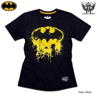 男裝 t 恤蝙蝠俠蝙蝠俠 T 襯衫玩具︰ 像滴著油漆的蝙蝠俠標記 flockhprintbatman t 恤 !