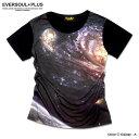 ギャラクシー 宇宙 Tシャツ メンズ 半袖 銀河 スペース フルカラー インクジェット ダンス 衣装 派手 バンド スカル