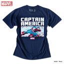 キャプテンアメリカ Tシャツ メンズ マーベル MARVEL アメコミ グッズ ストリート ダンス 衣装 原宿系 ネイビー 半袖 ロゴ プリント