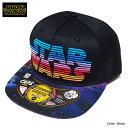 帽子 スターウォーズ STARWARS ストリートキャップ メンズ ベースボールキャップ 刺繍 ロゴ 厚盛り ダンス グッズ 黒 ブラック