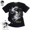 Anarchist JAPAN Tシャツ メンズ 和柄 ガールプリント 女の子柄 キャラクター ホワイト 白 ラメ ブラック 黒 tシャツ EVERSOUL コラボ