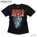 KISS キッス Tシャツ メンズ バンド ロック メンバー グッズ ロゴ 夏フェス 半袖