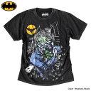 ジョーカー Tシャツ メンズ バットマン BATMAN JOKER グッズ 半袖 シャツ アメコミ DCコミックス 銀箔 プリント