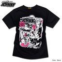 キャラクター プリント Tシャツ メンズ 半袖 tシャツ アメコミ おしゃれ かわいい EVERSOUL x jb style コラボ イラスト 白 黒 ブラック 杢グレー