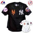 ベースボールシャツ 野球 メンズ ニューヨーク ヤンキース メッツ ユニフォーム メッシュ シャツ HIPHOP ストリート ファッション スポーツ カジュアル