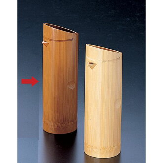Soot bamboo bill sake bottle (very much) approximately 2go