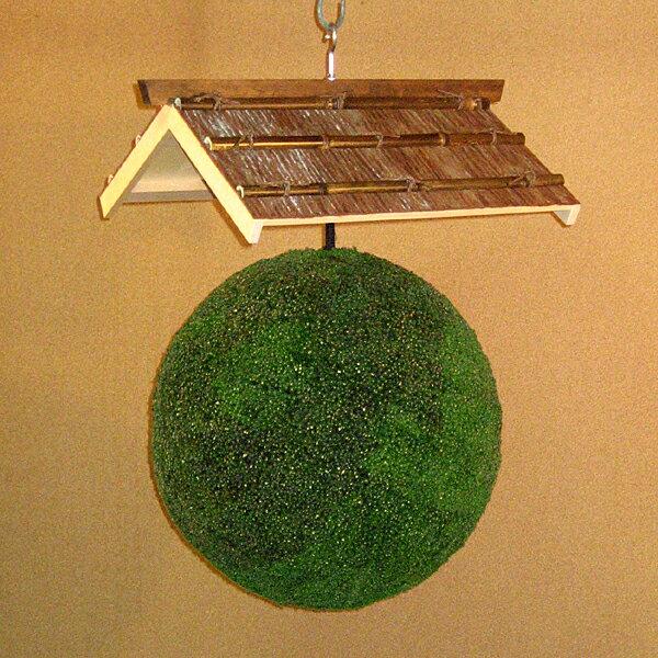 杉玉45センチ+杉皮張笠セットの商品画像