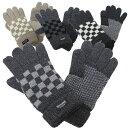 シンサレート紳士ニット手袋◆ブロックチェック柄【smtb-TK】【YDKG-tk】【あす楽対応】【楽