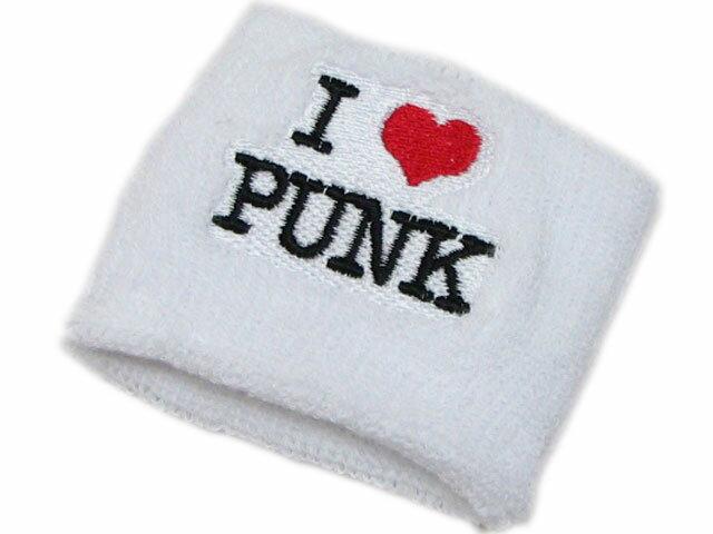 リストバンド★I LOVE PUNK★ホワイト 【YDKG-tk】【あす楽対応】【楽ギフ_包装】誕生日プレゼント ギフト プレゼント 贈り物 present ラッピング