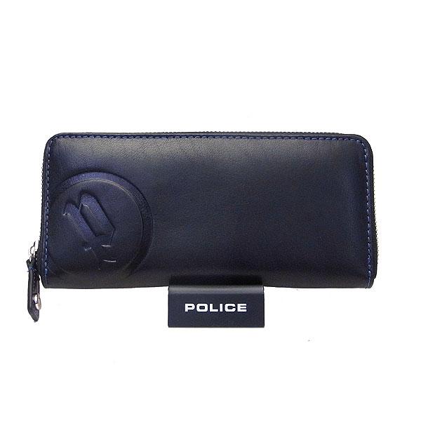 POLICE ポリス メンズ 長財布 BASIC II ベーシック2 ブラック ブルー 9付20日15時までP10倍 買った後も安心のポリス正規販売店