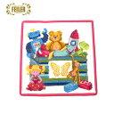 ショッピングおもちゃ フェイラー Feiler ハンカチ タオル おもちゃ箱 25cm×25cm ピンク 143081
