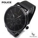 ポリス POLICE 時計 腕時計 14999JSB 02MM ビジネス クロノウォッチ 5気圧防水 カレンダー表示 2年保証 メーカー正規品 エクセルワールド ブランド ブレゼント TP