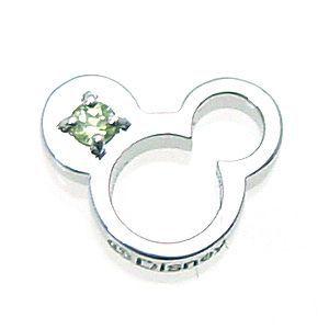 ディズニー ベビーリング ネックレス ペンダント (8月)誕生石ペリドット ミッキー Disney【あす楽 】