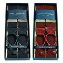 アルバートサーストン サスペンダー リボン ミッドナイト/マルーン レザーエンド/ALBERT THURSTON Rigid Braces Solid Midnight Bleu/Maroon Leather End メンズ ブランド