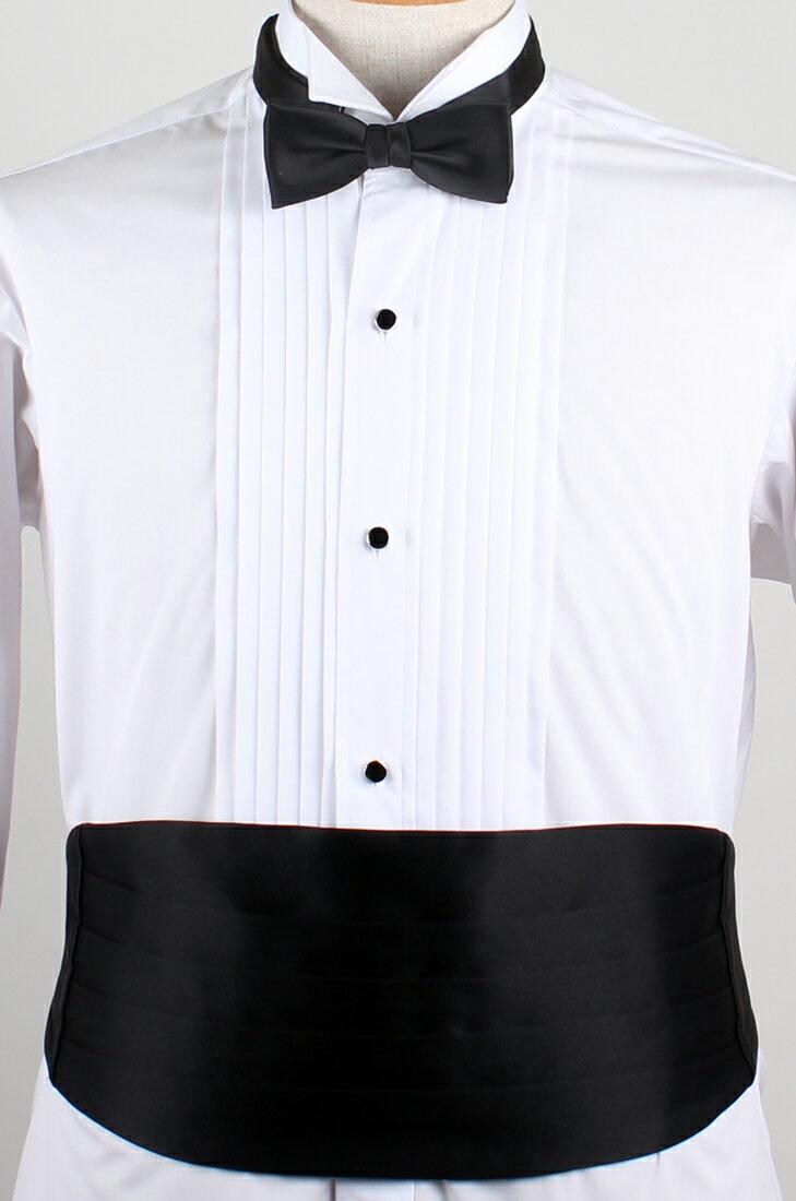 カマーバンド&蝶ネクタイ /高級素材の拝絹地を使...の商品画像