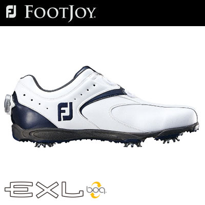 FOOTJOY(フットジョイ) EXL Boa 2016 メンズ ゴルフ シューズ 45144 ホワイト/ネイビー (W)