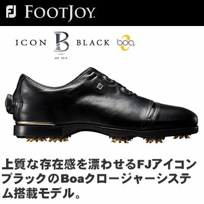 FOOTJOY(フットジョイ) FJ ICON BLACK Boa ゴルフ シューズ 52024