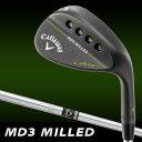 Callaway(キャロウェイ) MD3 MILLED ウェッジ マットブラック N.S.PRO 950G.H スチールシャフト [日本正規品]