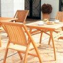 チーク材のガーデンファニチャーコスタ スクウェアテーブル 3点セット