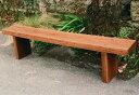 枕木台ベンチ 2型(カンナ・塗装仕上げ)(26015)(ジャービス商事)ガーデンファニチャー ガーデン家具 ガーデンベンチ ガーデンチェア 椅子 イス 木製