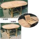エクステンションテーブル(36337)(ジャービス商事)ガーデンファニチャー ガーデン家具 ガーデンテーブル 机 チーク 木製