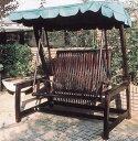 【チーク野外用家具】デラックススイングラブベンチ(20805)