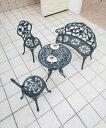 【テーブル&チェアー】テーブルセットローズ 60φ【ガーデンファニチャー】