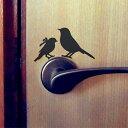 【ガーデン雑貨3000円以上お買い上げ送料無料対象】静電気除去機能付き ウォールステッカー 小鳥