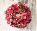 RoomClip商品情報 - リュクスロッソリースML【クリスマス リース 小物 オーナメント バラ Christmas Xmas】