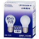LB-PS6695W-2P 白熱電球(100W相当/ホワイト/E26/2個入り) OHM(オーム電機)