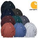 『CARHARTT/カーハート』 crhtt-k126 LONG SLEEVE WORKWEAR POCKET T-SHIRT / 長袖 ワークウェア ポケットTシャツ -全9色- 「カジュアル」「コットン」「リブ」「アメカジ」「K126」「長袖」[CRHTT-K126]