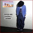 『POINTER BRAND/ポインターブランド』PT-333 ZIPPER BIB OVERALL/ジッパーデニムオーバーオール/アメリカ...