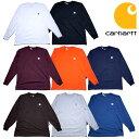 『CARHARTT/カーハート』 crhtt-k126 LONG SLEEVE WORKWEAR POCKET T-SHIRT / ロングスリーブ ワークウェア ポケットTシャツ -全8色- 「カジュアル」「コットン」「リブ」「アメカジ」「K126」 CRHTT-K126
