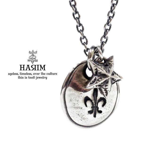 HARIM ハリム HRP084 S LILY plate [C] & reverse star necklaceシルバ- ユリ スター ネックレス HARIM ネックレス 送料無料 き手数料無料