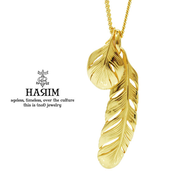 HARIM ハリム HRP080VG New Leef feather necklace ゴールド フェザー ネックレス HARIM ハリム ネックレス 送料無料 き手数料無料