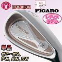 2012モデルマルマンゴルフ日本正規品FIGARO(フィガロ)CLASS H DUEX(クラス アッシュ ドゥ)アイアン単品(#7、#8、#9、PW、AW、SW)フィガロ ライトピンクゴールドカーボンシャフト※レディスモデル※